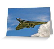 Avro Vulcan B.2 XH558 G-VLCN flypast Greeting Card