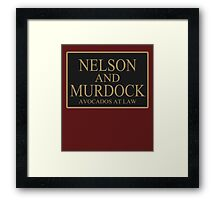 NELSON AND MURDOCK AVOCADOS AT LAW Framed Print