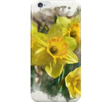 Spring Daffodils Watercolor Art iPhone Case/Skin