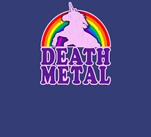 Funny Death Metal Unicorn Rainbow (vintage distressed look) Unisex T-Shirt
