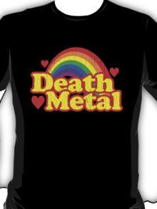 Funny Death Metal Rainbow (vintage distressed look) T-Shirt