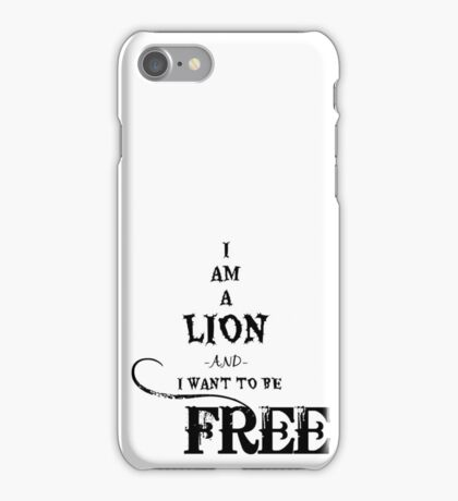 I Am A Lion  iPhone Case/Skin