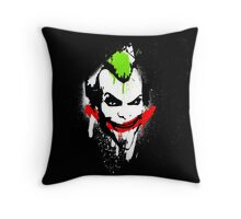 Joker Graffiti Throw Pillow