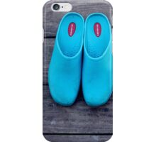 Turquoise Garden Clogs And Gloves | Center Moriches, New York iPhone Case/Skin