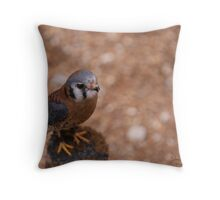 The American Kestrel Throw Pillow