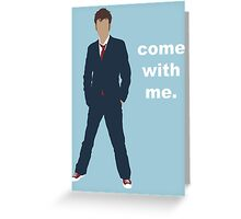 Doctor Who David Tennant Quote  Greeting Card