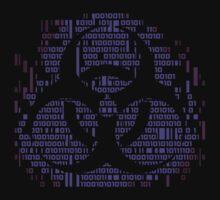 Binary Biohazard Symbol (Purple) T-Shirt