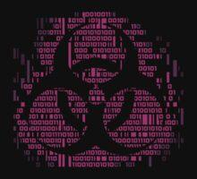 Binary Biohazard Symbol (Pink) T-Shirt
