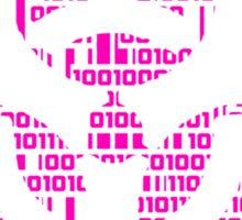Binary Biohazard Symbol (Pink) Sticker