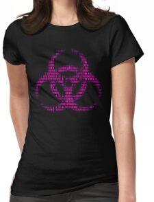 Binary Biohazard (Pink) Womens Fitted T-Shirt