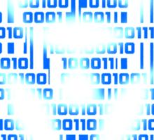 Binary Biohazard (Blue) Sticker