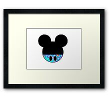 Mickey Mouse Head Framed Print