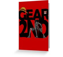One Piece Gear 2nd (second) Greeting Card