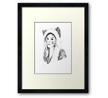 Dotwork Girl Framed Print