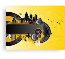 Music Background Canvas Print