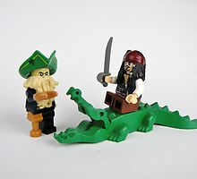 Jack Sparrow and Davy Jones by Christina Stanley