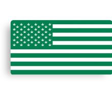 Weed American Flag Canvas Print