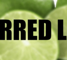 Blurred Limes Sticker