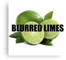Blurred Limes Canvas Print