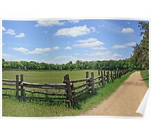Fence and Blue Sky Poster