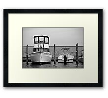 Docked Vessels | Center Moriches, New York Framed Print