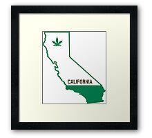 California The Green State Framed Print