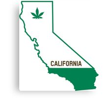 California The Green State Canvas Print