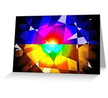 lined color flash forms and shapes attack Greeting Card
