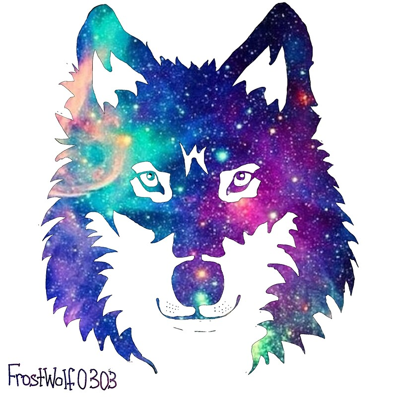 Quot Galaxy Wolf Quot Art Prints By Frostwolf0303 Redbubble