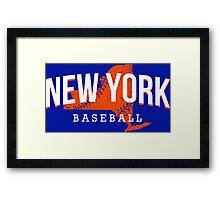 New York Baseball Framed Print