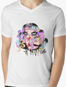 Cherry~ Mens V-Neck T-Shirt