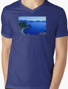 Glacier Blue Mens V-Neck T-Shirt