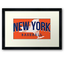 New York Baseball 2 Framed Print