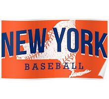 New York Baseball 2 Poster