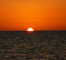 sunset... 1/2 half by Linda Bianic