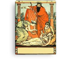 The Sleeping Beauty Picture Book Plate - That They The Child Might Bless Canvas Print