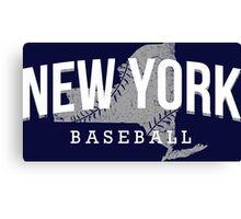 New York Baseball 3 Canvas Print