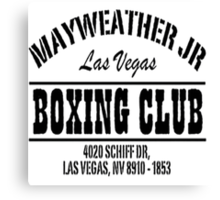 Mayweather Boxing Club Canvas Print