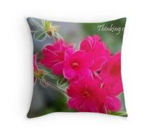 Thinking of you. Card Throw Pillow