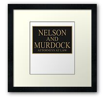 NELSON AND MURDOCK ATTORNEYS AT LAW Framed Print