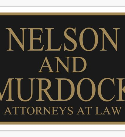 NELSON AND MURDOCK ATTORNEYS AT LAW Sticker