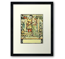 The Sleeping Beauty Picture Book Plate - He Led Her from the Hall Framed Print