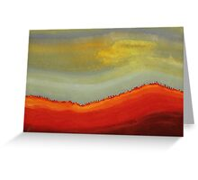 Canyon Outlandish original painting Greeting Card