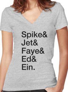 Bebop Crew Women's Fitted V-Neck T-Shirt