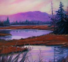 Twilight at Bass Harbor Marsh by Renee Lammers