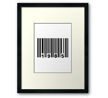 Barcode 1985 Framed Print