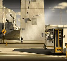 Lonely men walk lonely cities by Adrian Donoghue