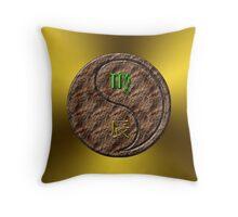 Virgo & Dragon Yang Earth Throw Pillow