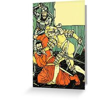 The Sleeping Beauty Picture Book Plate - Bluebeard - The Cut The Murderer Down Greeting Card