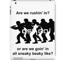 CSGO Sneaky Beaky Shirt (LOGO) iPad Case/Skin